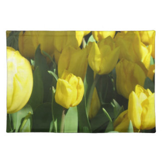Yellow tulips cloth placemat