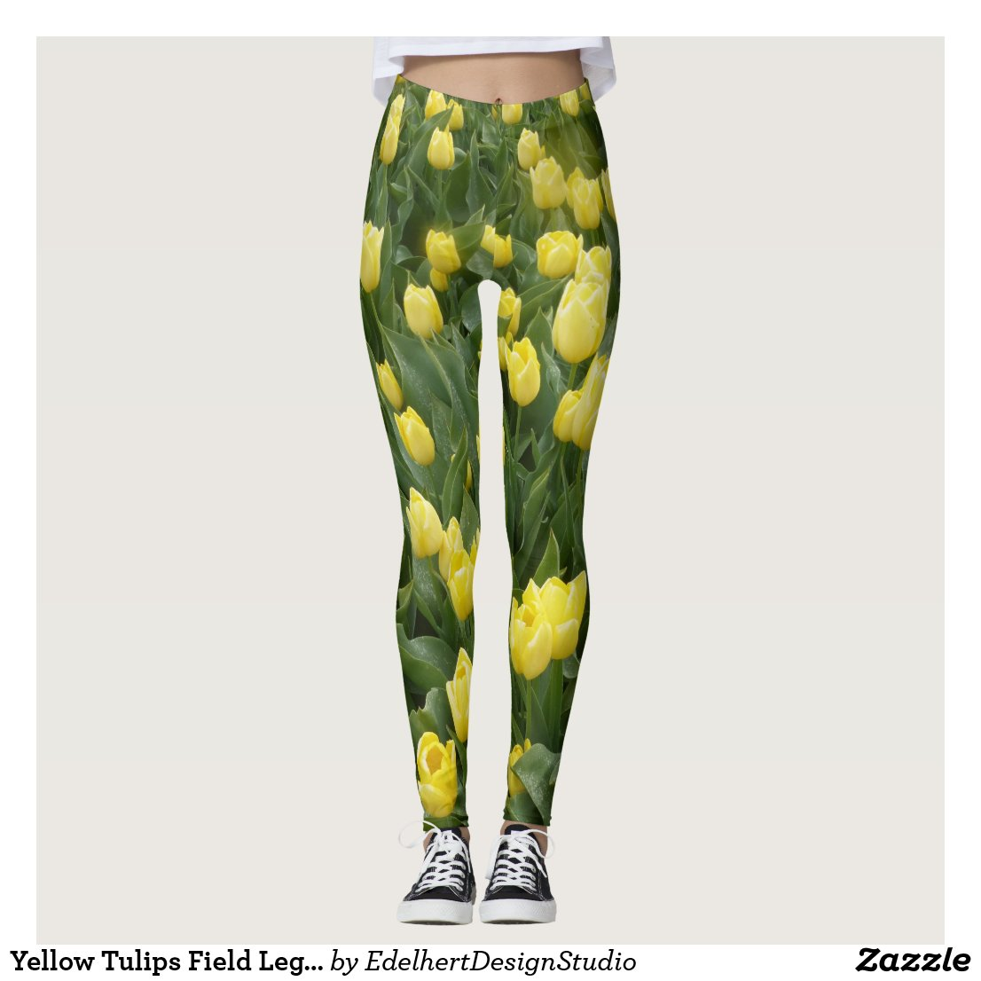 Yellow Tulips Field Legging