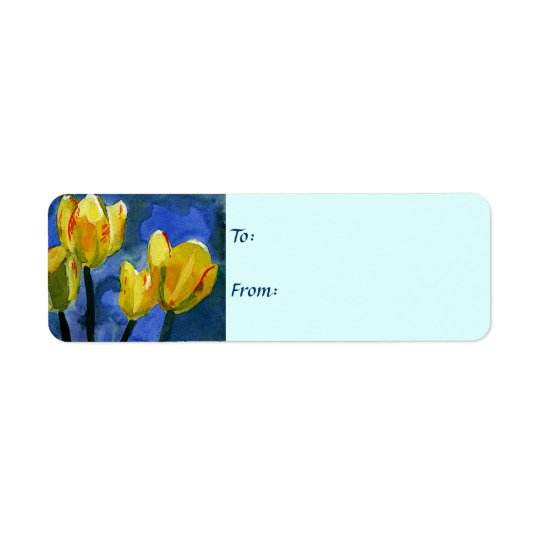 Yellow Tulips Floral Gift Labels
