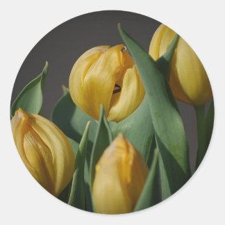 Yellow Tulips Flower Sticker