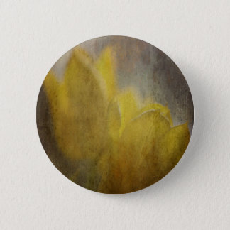 Yellow Tulips Flowers Rustic Floral Art Pinback Button