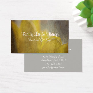 Yellow Tulips Flowers Rustic Florist Gift Shop Business Card