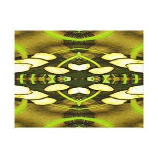 Yellow Tulips Fractal Design Wrapped Canvas Stretched Canvas Prints