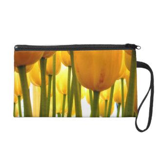 yellow Tulips = happy Tulips Wristlet