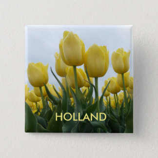 Yellow Tulips Holland Square Button
