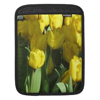 Yellow tulips iPad sleeves