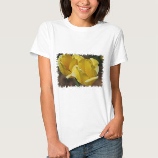 Yellow Tulips Ladies Fitted T-Shirt