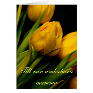 Yellow tulips mother´s day card