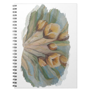 Yellow tulips note book