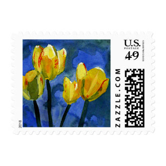 Yellow Tulips Postage