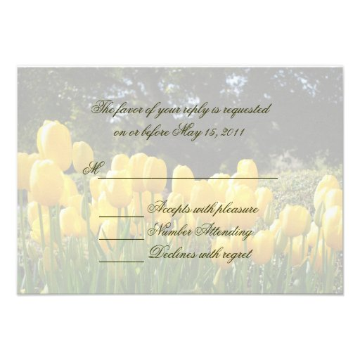 Yellow Tulips RSVP Card