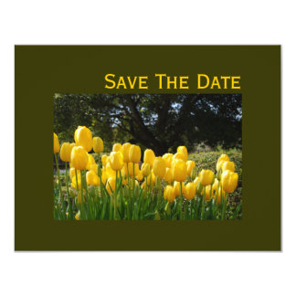 Yellow Tulips Save The Date Cards