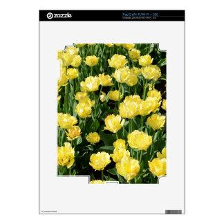 Yellow Tulips Skin For iPad 2