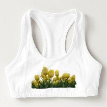 Yellow Tulips Sports Bra
