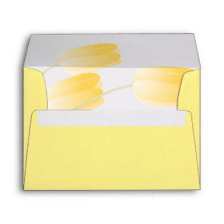 Yellow Tulips Spring Floral Self-Addressed Envelope