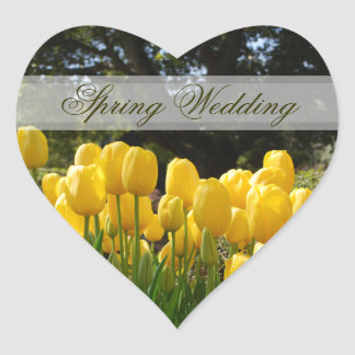 Yellow Tulips Spring Wedding Stickers