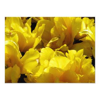Yellow Tulips Through Sunbeams Card