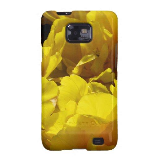 Yellow Tulips Through Sunbeams Samsung Galaxy SII Covers