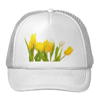 Yellow tulips trucker hat