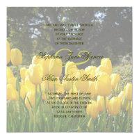 Yellow Tulips Wedding Invitation