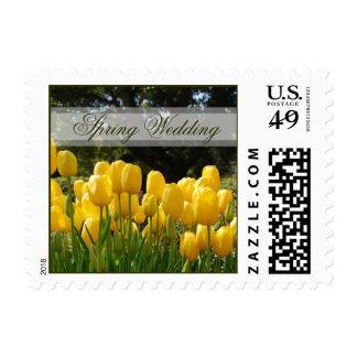 Yellow Tulips Wedding Postage