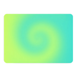Yellow Turquoise Ombre Twirl Card