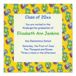 Yellow Turtle Graduation Announcement