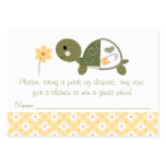 Yellow Turtle in Diaper Raffle Tickets Large Business Card