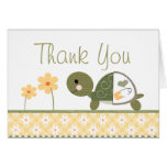Yellow Turtle in Diapers Baby Shower Thank You Card