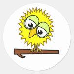 Yellow Tweet Round Stickers