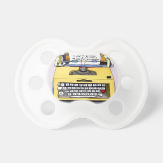 Yellow Typewriter Baby Pacifier