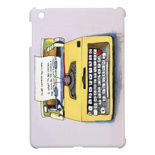 Yellow Typewriter iPad Mini Case