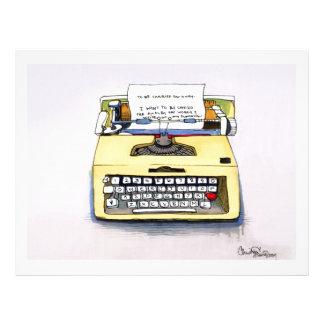 Yellow Typewriter Letterhead Template