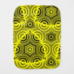 Yellow ugly pattern baby burp cloths