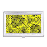 Yellow ugly pattern business card holder