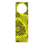 Yellow ugly pattern door knob hangers