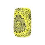 Yellow ugly pattern minx ® nail wraps