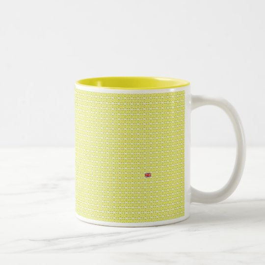 Yellow UK Union Jacks & odd one Two-Tone Coffee Mug