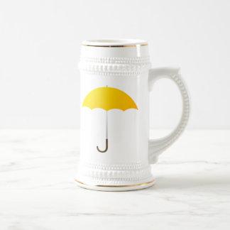Yellow Umbrella Beer Stein