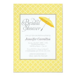 Yellow Umbrella Bridal Shower Invitation