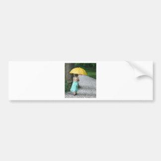 Yellow Umbrella Bumper Sticker