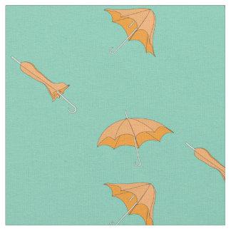 Yellow umbrella fabric