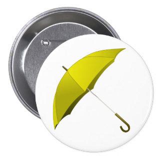 Yellow Umbrella Hong Kong Pro-Democracy Movement Pinback Button