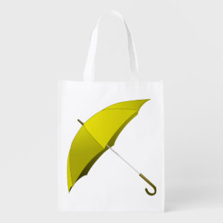 Yellow Umbrella Hong Kong Pro-Democracy Movement Grocery Bag