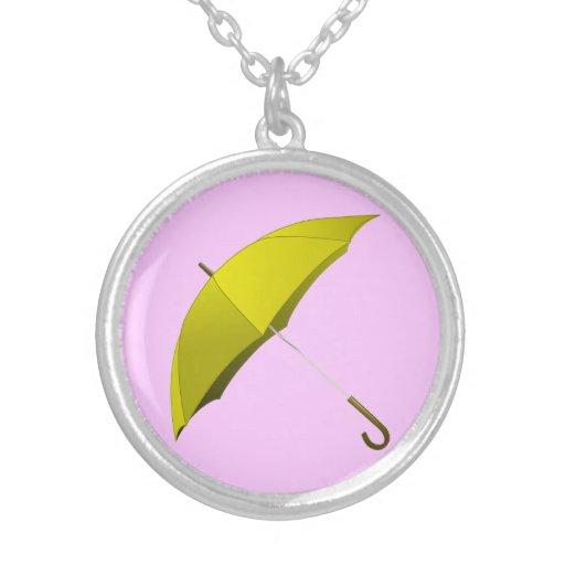 Yellow Umbrella Hong Kong Pro-Democracy Movement Custom Necklace