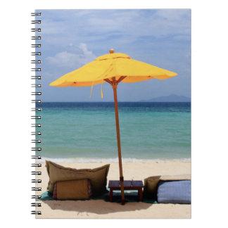 Yellow umbrella notebook