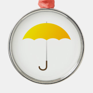 Yellow Umbrella Ornament