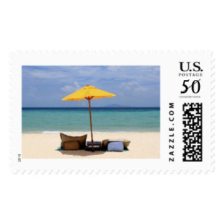Yellow umbrella postage