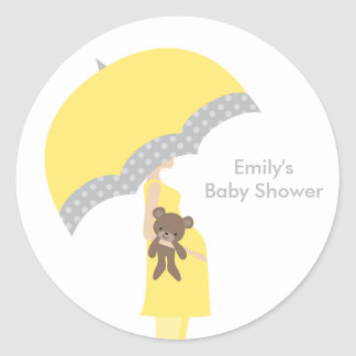 Yellow Umbrella Stickers
