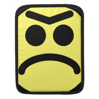 Yellow Unibrow Frown Smiley Face Sleeve For iPads